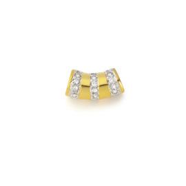 pingente separador pingentes cravejado zirconias banhado ouro amarelo brilho folheados sabrina joias 1800208