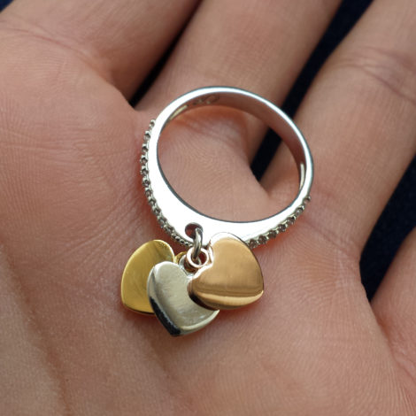 1910470 anel ouro branco 3 coracoes sabrina joias brilho folheados