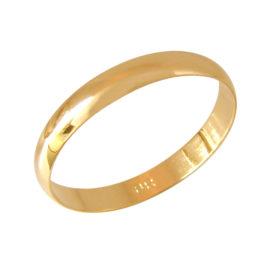AB0171 alianca fina 3mm de espessura acabamento liso e polido joia folheada ouro 18k brilho folheados bruna semijoias