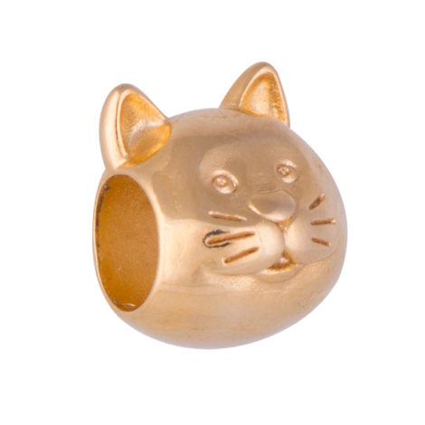 Berloque Gato Banhado Ouro 18k