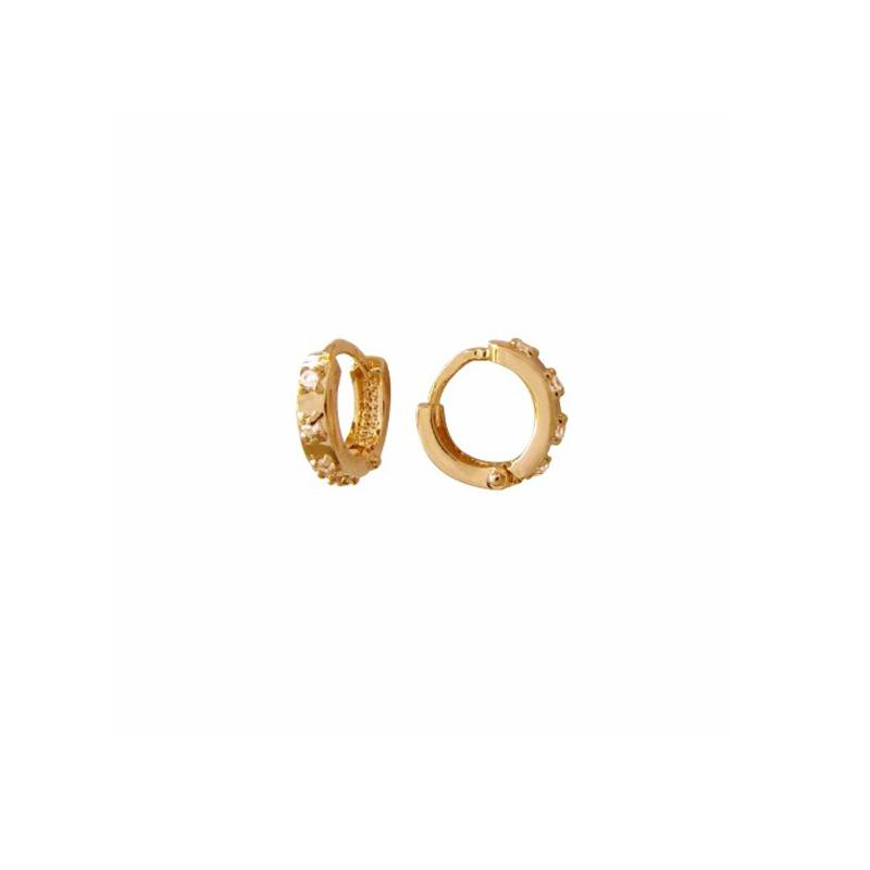 Brilho Folheados - Brinco Argola Mini Banhado Ouro 18k 4d504f6fd6