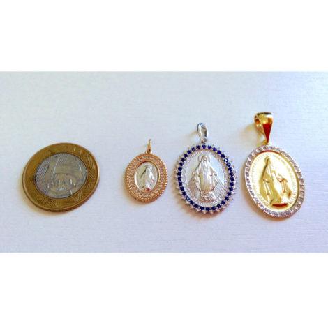 medalhas nossa senhora das gracas brilho folheados