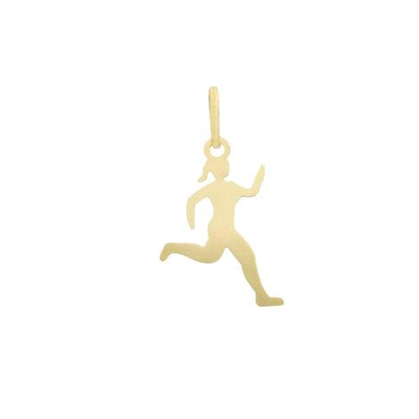 pingente esporte corrida feminina