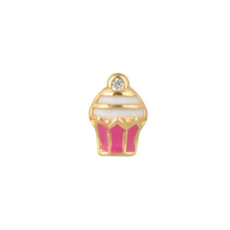 1800279 pingente mini cupcake para capsula brilho folheados sabrina joias