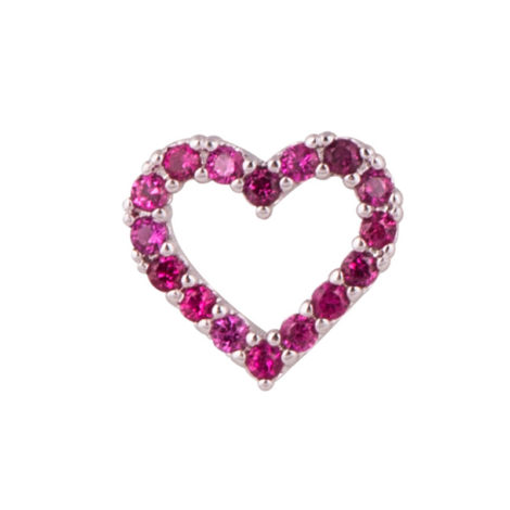 1800385 mini pingente coracao ouro branco zirconia rosa brilho folheados sabrina joias