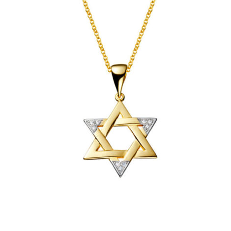 1805200 220e45 colar elos portugueses com pingente estrela de davi folheado a ouro dourado 18k sabrina joias brilho folheados