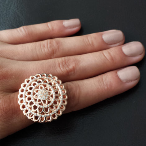 1910158 maxi anel flor joia folheada sabrina joias brilho folheados