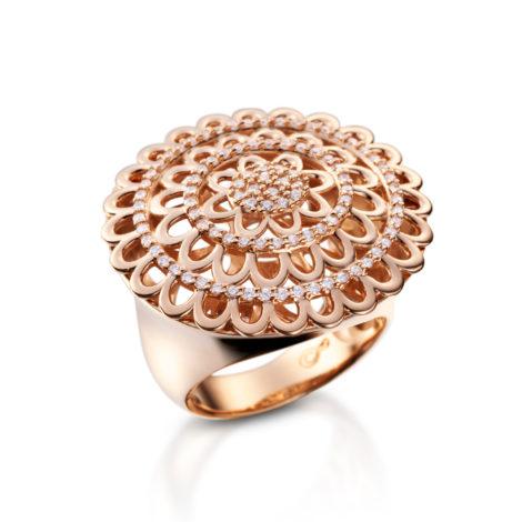 1910158 maxi anel flor vazada zirconias joia folheada banhada ouro rose sabrina joias brilho folheados