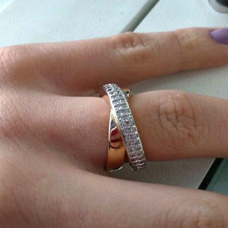 AB1457 anel aro cruzado