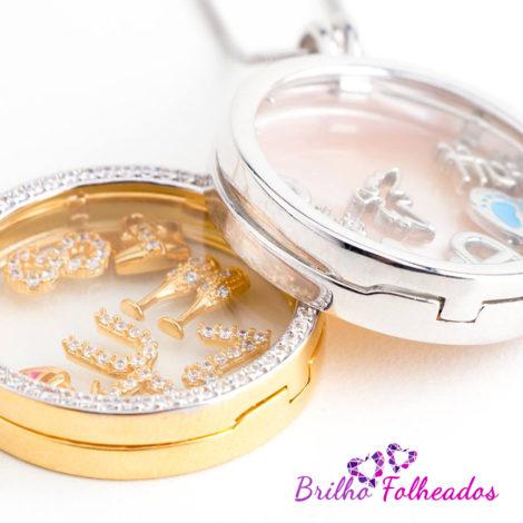 Capsula vidro replica vivara sabrina joias brilho folheados 1800281
