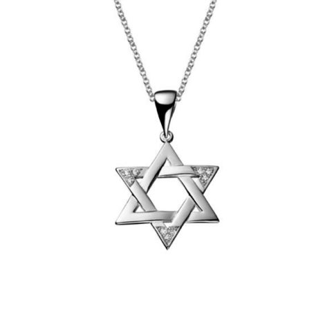 R1805200 R220e45 colar elos portugueses com pingente estrela de davi folheado a rodio prateado sabrina joias brilho folheados 1