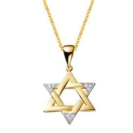 Colar Medalha Estrela de Davi Grande