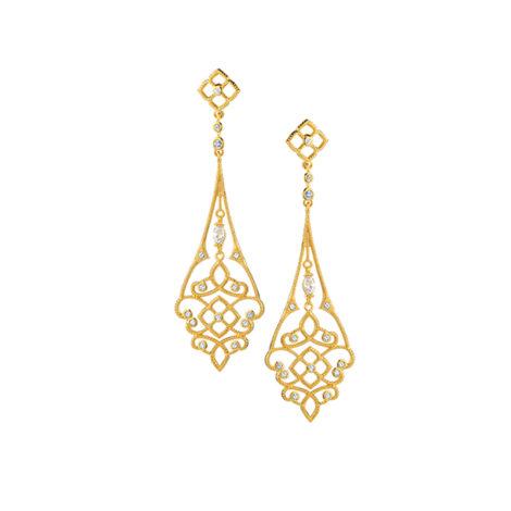 1689409 brinco comprido leve arabesco formas geometricas sabrina joias brilho folheados