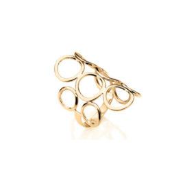 511048 anel circulos vazados joia rommanel brilho folheados