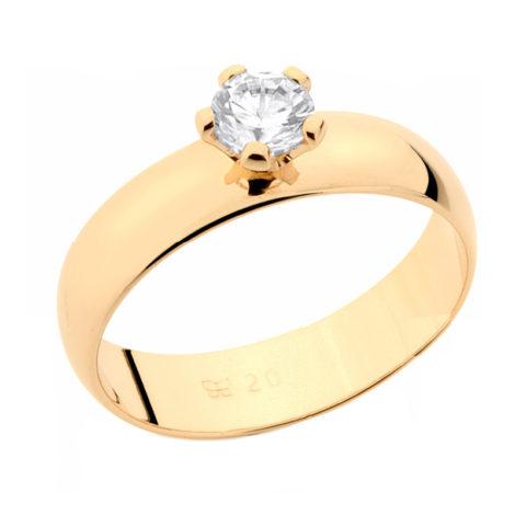 511401 anel solitario noivado namoro joia rommanel brilho folheados