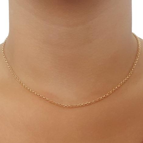 530609 corrente feminina elos portugues espessura media folheado a ouro dourado 18k joia folheada rommanel brilho folheados 2