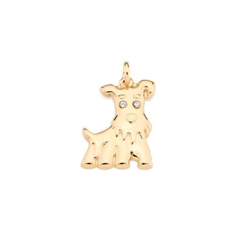 541610 pingente cachorro joia rommanel brilho folheados