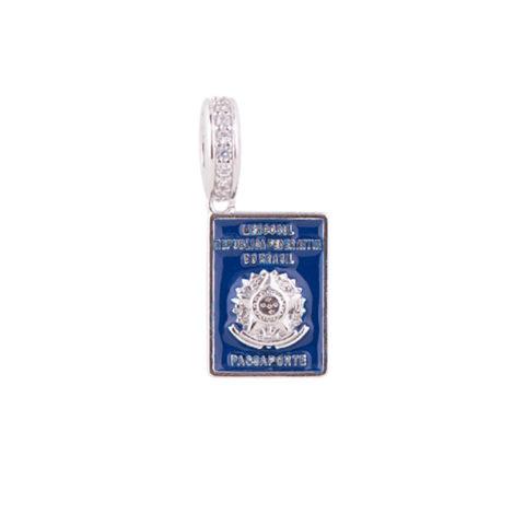 Berloque Passaporte Azul Sabrina Joias 1800339
