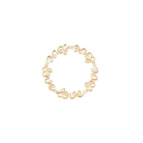 1800346 disco moldura love com zirconias para capsula relicario brilho folheados sabrina joias