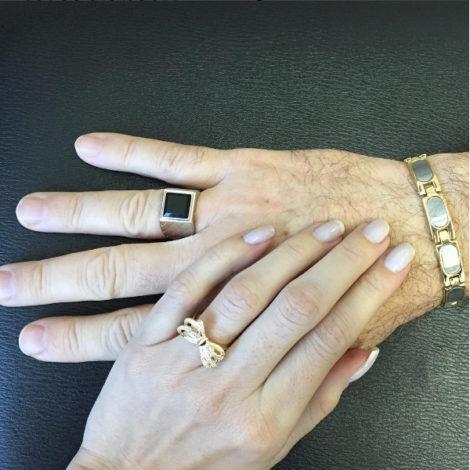 AB1710 anel grande masculino joia folheada ouro dourado pedra preta brilho folheados bruna semijoias