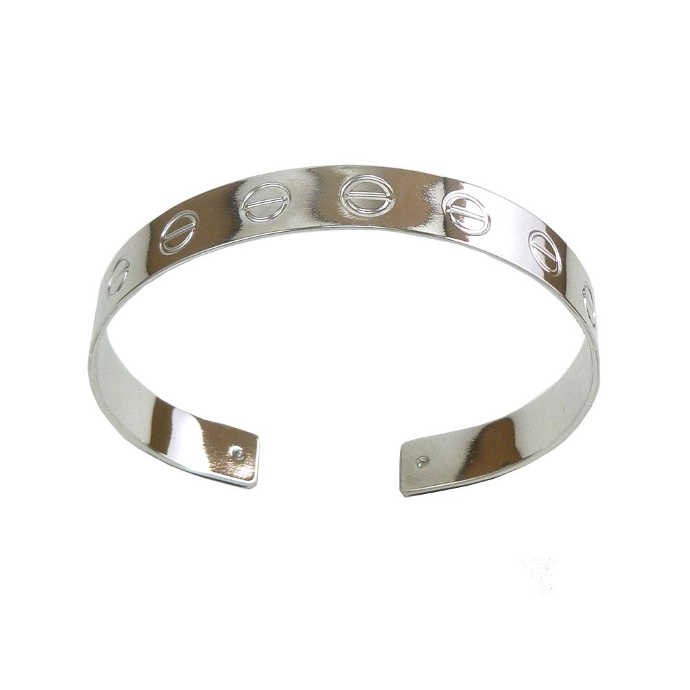 edc414f9fa9 Brilho Folheados - Bracelete Love Ajustável banho ouro branco prata