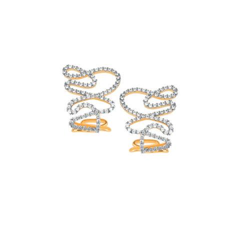1689448 brinco tracos geometricos linhas confortaveis ovais cravejado micro zirconias sabrina joias brilho folheados