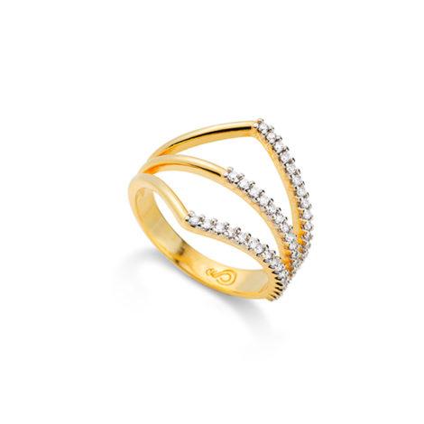 1910463 anel geometrico triplo cravejado zirconia sabrina joias brilho folheados