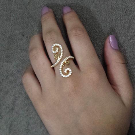 1910502 anel arabesco foto real brilho folheados