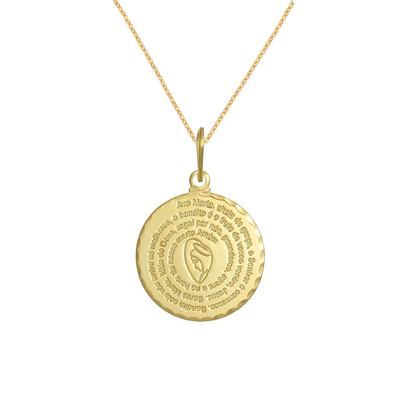 ddc4a9cba3740 colar-feminino-45cm-medalha-pingente-oracao-ave-maria-oracao-santa-banhado- ouro-dourado-joia-folheada-antialergica-brilho-folheados