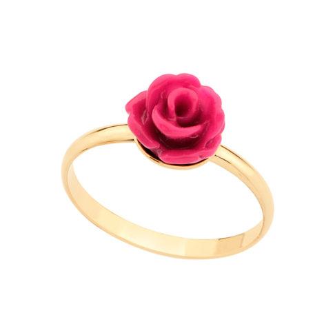 511293 anel infantil flor resina rosa escuro colecao meu mundo encantado joia rommanel brilho folheados