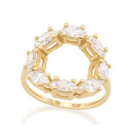 512306 anel redondo vazado 8 zirconias colecao giovanna antonelli rommanel brilho folheados
