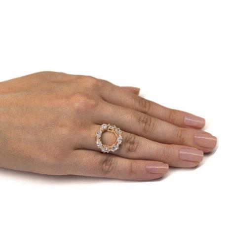 512306 anel redondo vazado 8 zirconias colecao giovanna por giovanna rommanel brilho folheados foto real