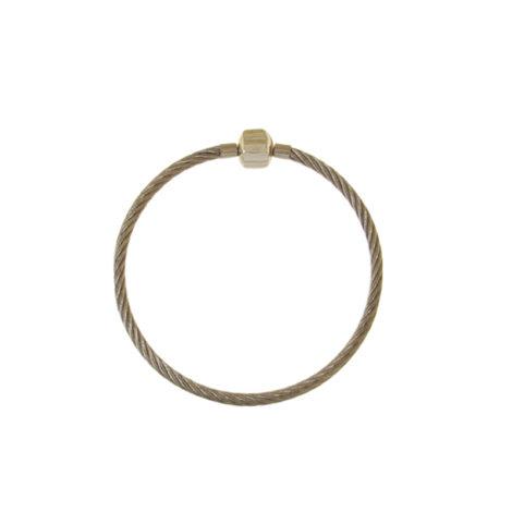 BP0473 pulseira masculina aro aço tamanho 18cm ou 20 cm bruna semijoias brilho folheados