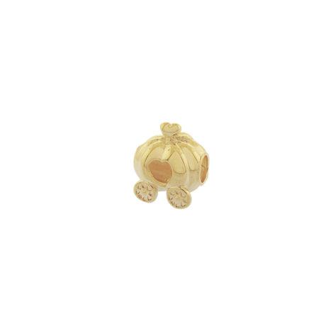 MB1206. berloque carruagem abobora cinderela joia folheada banhada ouro brilho folheados bruna semijoias