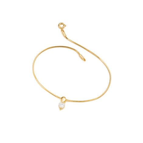 1718300 tornozeleira ponto luz 23 cm comprimento joia folheada banhada ouro dourado sabrina joias brilho folheados