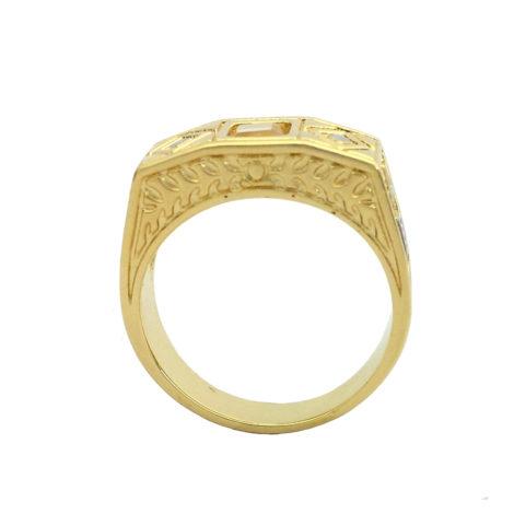 anel formatura infantil pedra branca detalhes joia folheada ouro brilho folheados bruna semijoias AB1208