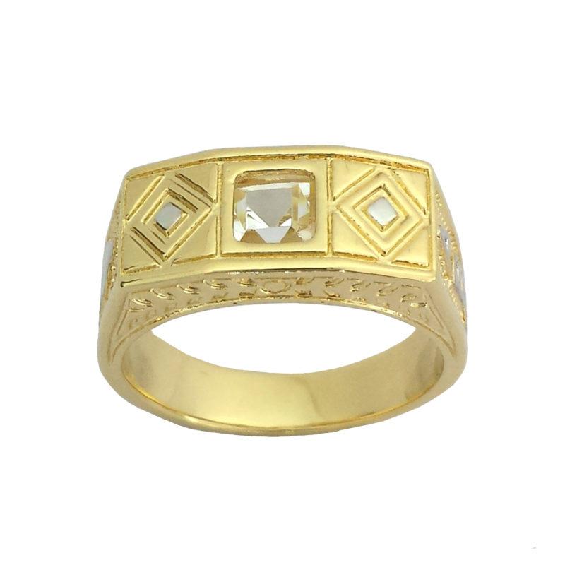 a729a237942 Anel Infantil de Formatura pedra cristal joia folheada ouro 18k ...
