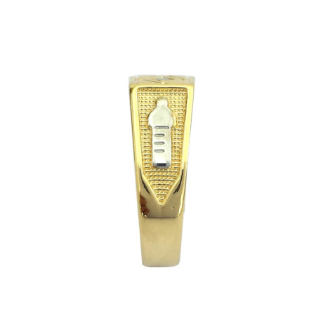 anel formatura infantil pedra zirconia cristal branca foto lateral mamadeira escravada joia antialergica folheda ouro bruna semijoias brilho folheados AB1208