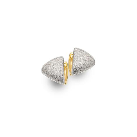 1683200 brinco triangulo bipartido sabrina joias joia folheda ouro brilho folheados