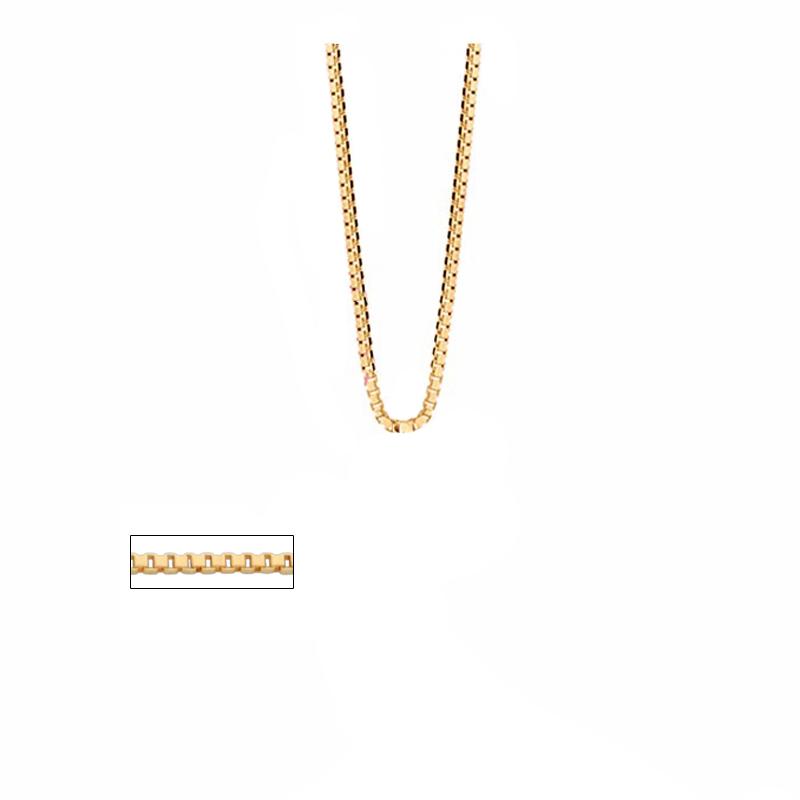 Corrente Veneziana Fina 60cm Rommanel 531312 joia folheada ouro 18k b8552bea04