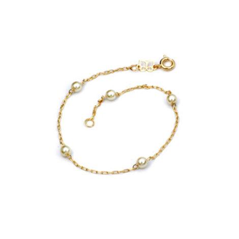 550687 pulseria feminina elos com perolas 18cm comprimento com extensor total 20 cm de comprimento marca rommanel loja brilho folheados