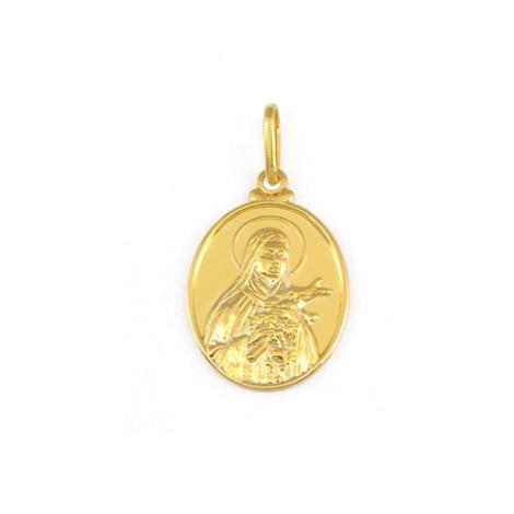 pingente santa terezinha do menino jesus joia folheada ouro