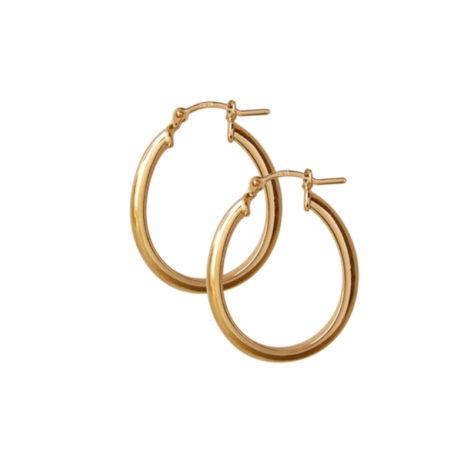 BB1790 brinco argola oval espessura grossa fecho tranqueta similar de joia folheado ouro dourado brilho folheados revendedora oficial da marca bruna semijoias