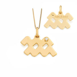 542016 531310 colar pingente signo aquarios com 1 zirconia branca joia folheada ouro dourado 18k joia rommanel brilho folheados e de aquarios a pessoa nascida entre 20 01 a 18 02