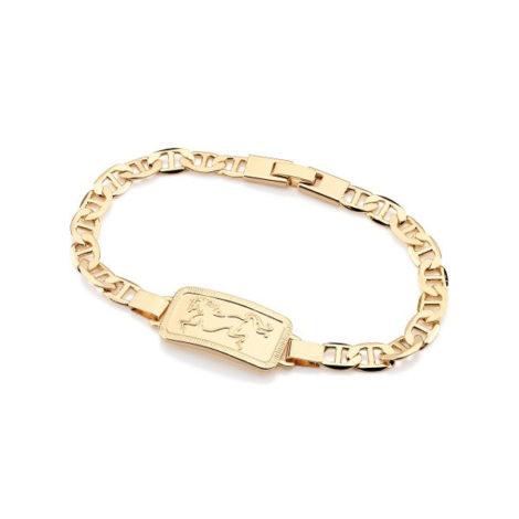 550962 pulseira masculina placa retangular com cavalo vaqueiro desenhado dentro da placa joia 19cm rommanel brilho folheados