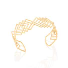 Bracelete Losangos Vazados Sobrepostos