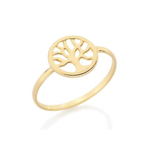 anel arvore da vida joia rommanel folheada ouro brilho folheados revendedora oficial 512092