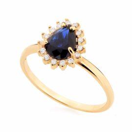 anel formatura feminino azul joia rommanel 511924 brilho folheados