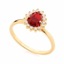 anel formatura vermelho rubi joia rommanel 511924 brilho folheados revendedor oficial da marca rommanel
