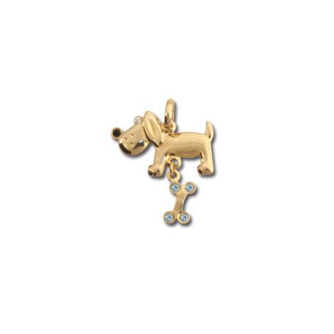 pingente cachorro raca beagle tambem parecido com a raca salsicha basset dachshund joia rommanel brilho folheados 541121